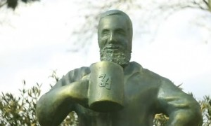 Statue for Loving Beer